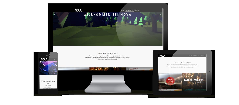 Webangebot von NOVA