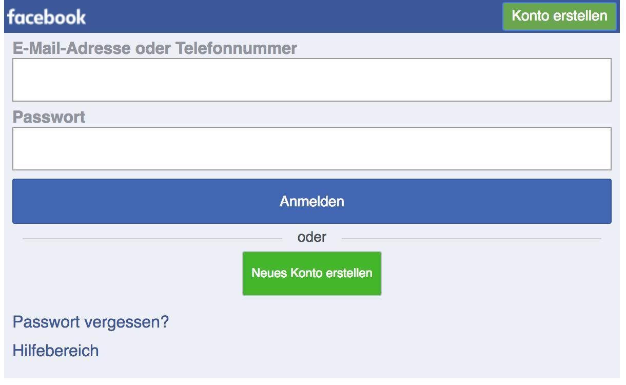 Mobile Website von Facebook - kein responsive Webdesign